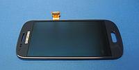 Оригинальный дисплей (модуль) + тачскрин (сенсор) с рамкой для Samsung Galaxy S III Mini i8190 (синий цвет)