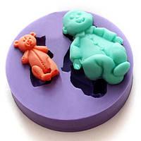 Силиконовые торт Sugar Baby Fondant Mold Креативный Выпечка Плесень Многофункциональный кухонный инвентарь