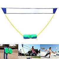 3в1Наоткрытомвоздухе Спорт Бадминтон Теннис Волейбол Net Портативный стенд Battledore Set