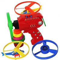 Дети Outdooors Игрушка Фонарик UFO Flying Saucer Frisbee Top Toys