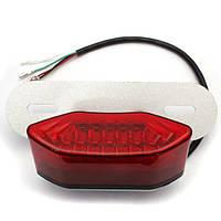 Мотоцикл LED хвост сигнала поворота тормозной фонарь освещения номерного знака красный