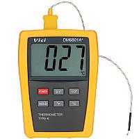 Vici DM6801A+ Mini LCD Цифровой Термометр Тестер температуры с термопарой типа K