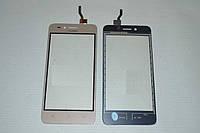 Оригинальный тачскрин / сенсор (сенсорное стекло) для Huawei Y3 II 3G (золотой цвет) + СКОТЧ В ПОДАРОК
