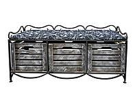 Тумба Le Puf Лавочка в стиле Прованс ES-130 М (3 ящика)