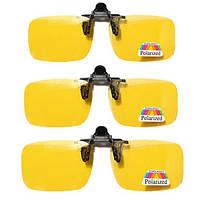Clip-on Flip Up Солнцезащитные очки для ночного видения Объектив
