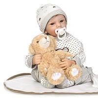 21 '' 50cm Soft Силиконовый Reborn Baby Кукла Настоящий Like Smile Bonecas Кукла Reborn Cute Christmas Gift