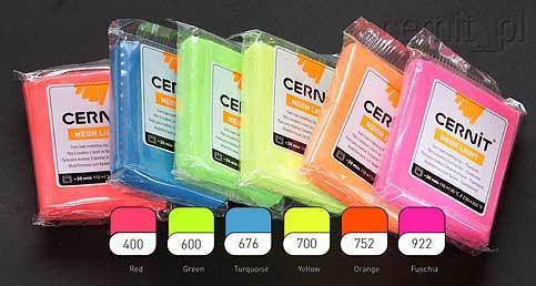 Набор полимерная глины Цернит Cernit Neon (Бельгия) 5 шт.х56 г