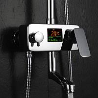 Температурный цифровой Дисплей Смеситель для душа Смеситель для воды без воды Батарея Ванная комната Кухонный смеситель для кухни