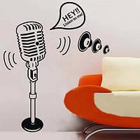 Личность микрофон музыкальный стикер стены