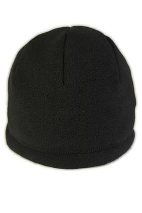 Шапка зимняя (флис/мех 450г/м2) чёрная, фото 2