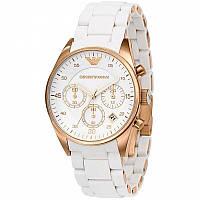 Часы мужские Emporio Armani белые, кварцевые часы Армани Эмпорио, стильные мужские наручные часы Armani