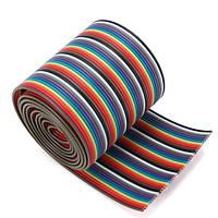 5pcs 1M 3.3ft 10 цветов 40-Way 40-контактный плоский цвет Rainbow Ribbon IDC Cable Rainbow Провод 1,20 мм Шаг