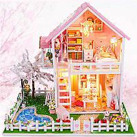 CuteRoom DIY Деревянные миниатюры кукольного домика Черри-дерево под теплым подарком на день рождения