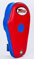 Лапа прямая удлиненная кожаная TWINS SPECIAL PML-7 красный-синий(оригинал)