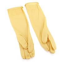 1 пара Латекс Резиновая чистящая стирка Перчатки Рукава для ухода за кожей для кухни Домашняя посуда для посуды