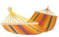 Мексиканский подвесной хлопковый гамак с перекладиной 200х120см, разноцветный