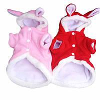 Рождественская одежда для питомцев Мода Cute Rabbit Plush Собака Одежда Pet Толстовка с капюшоном Зимняя одежда для костюмов
