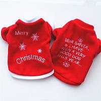 ChristmasPetСобакаКотЗимняяодежда Теплый пуловерный вышитый костюм для костюма для щенка Собакаs
