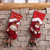 Рождество Носки Детский подарок Сумки из конфет Сумка Санта-Снеговик Маленький ангел