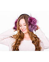 Меховые наушники Н-05761 CHORNOBYRKA 036, Цвет Фиолетовый, Размер STANDART