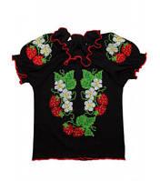 Вышиванка для девочки с коротким рукавом Артикул 39.1166