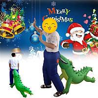 Рождественская вечеринка Главная Надувные крокодил Укус Асс Воздух,выдувающий костюм Смешные игрушки для детей Подарок