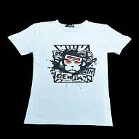 GemfanWL-01MonkeyModalХлопокБелая футболка Crewneck с коротким рукавом
