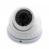 Купольная цветная IP камера LUX 4040-200, антивандальная купольная IP-видеокамера, камера видеонаблюдения