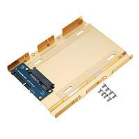 JEYI K109 2,5 дюймов до 3,5 дюймов Алюминиевый лоток для жесткого диска SATA 3.0 Интерфейс SSD-адаптер