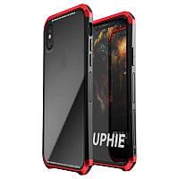 LuphieАнтиСтукМеталлическийбампер+ 9H Ясная закаленная стеклянная раковина Чехол Для iPhoneX