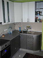 Кухня хай-тек белая металлик МДФ пленка, фото 1