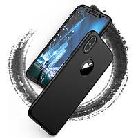 Bakeey™360°Полнаязащита корпуса ПК Чехол с закаленной стеклянной пленкой для iPhoneX