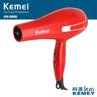 Фен для волос Kemei KM-8888 950 Вт, фен 2 скорости и 3 температурных режима