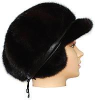 Зимняя кепка норковая,Мальвина (черная), фото 2