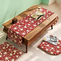 Honana WX-XY1 Утолщенные подковы подушки Моющийся офисный диван-стул Компьютерные подушки Красный рождественский домашний декор