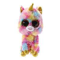 Cute Color unicorn TY Beanie Boos Плюшевые чучела игрушки С блестками Глаза (6 дюймов)