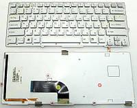 Клавиатура для ноутбука SONY (VPC-SB, VPC-SD series) rus, silver, без фрейма, подсветка клавиш