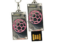 Флешка Uniq USB 2.0 ПАННО Сталь Мяч розовый 4GB (04C35104U2)