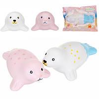 Kiibru Squishy Seal 15см Slow Rising Original Packaging Animal Squishy Scented Original Package Kids