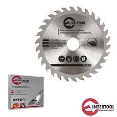 Intertool CT-3013 Диск пильный по дереву с твердосплав напайками 125*22 мм, 30зубьев