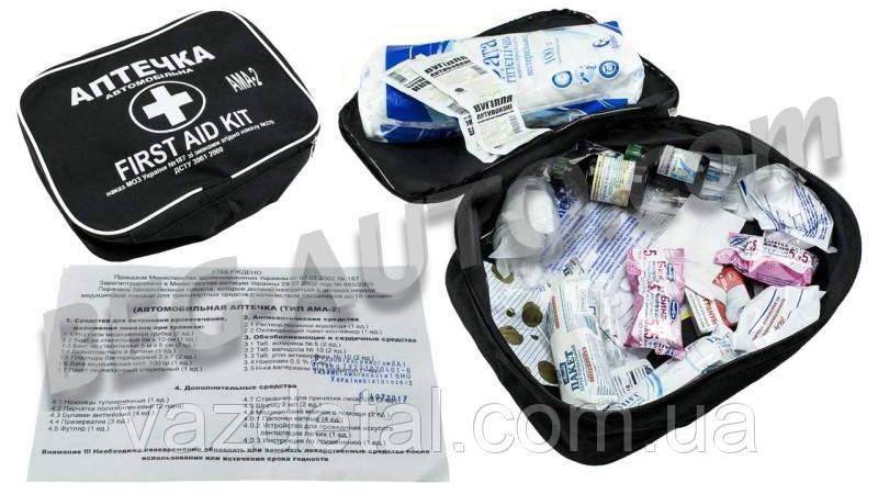 "Аптечка ""АМА-2"" для микроавтобуса  (до 18 чел.) сумочка"