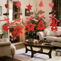 Рождественская елка Украшения Дерево Снежинка Сердце Звездная колокольня Начало Рождественский декор Навидад Украшение Ветер Куранты