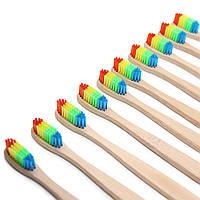 Honana BT-3922 4 шт Красочные головы бамбука зубной щетки Оптовая Окружающая среда Деревянные Радуга Бамбук Зубная щетка Уход за полостью рта Soft