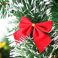 2PCS Красная рождественская елка Bow-knot украшения для дома Bauble Новогоднее украшение