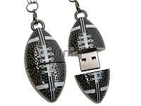 Флешка Uniq USB 2.0 МЯЧ Для Регби, серебро металл разборной 64GB (64C17283U2)