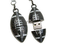 Флешка Uniq USB 3.0 МЯЧ Для Регби, серебро металл разборной 64GB (64C17283U3)