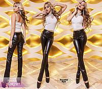 Чёрные брюки из эко кожи Локси, фото 1