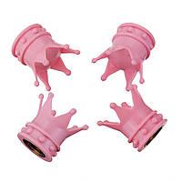 4шт.РозовыйCrownStyleАвто Шины с воздушным клапаном Степлевые крышки для крышек Прочные колесные диски