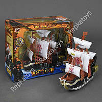 Пиратский корабль, музыкальный, со светом, в коробке (ОПТОМ) 351-1