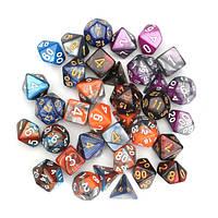 35 шт.Набор из многогранных кубиков D20 D12 D10 D8 D6 D4 Dices Gadget 5 Colors